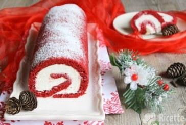 Ricetta natalizia semplice e veloce: Tronchetto di Natale Red Velvet