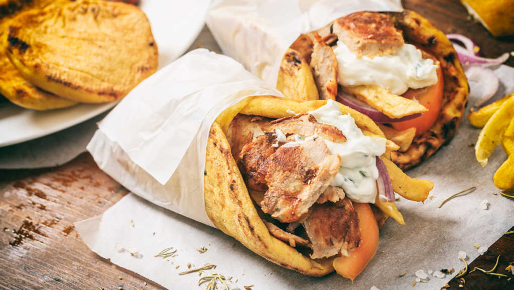 gyros pollo pita